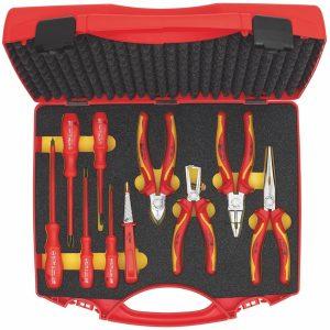 904-S10 Bộ đồ nghề cách điện 1000V, 10 chi tiết gồm kìm, tô vít các loại.