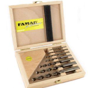 1597.507 bộ mũi khoan gỗ 7 chi tiết từ 3 đến 12mm FAMAG Germany