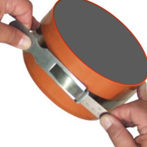 181912 thước đo chu vi bằng thép carbon 37.0 - 87.0 inch, vạch chia khắc laser