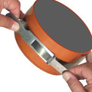 181914 thước đo chu vi bằng thép carbon 136.0 - 186.0 inch, vạch chia khắc laser