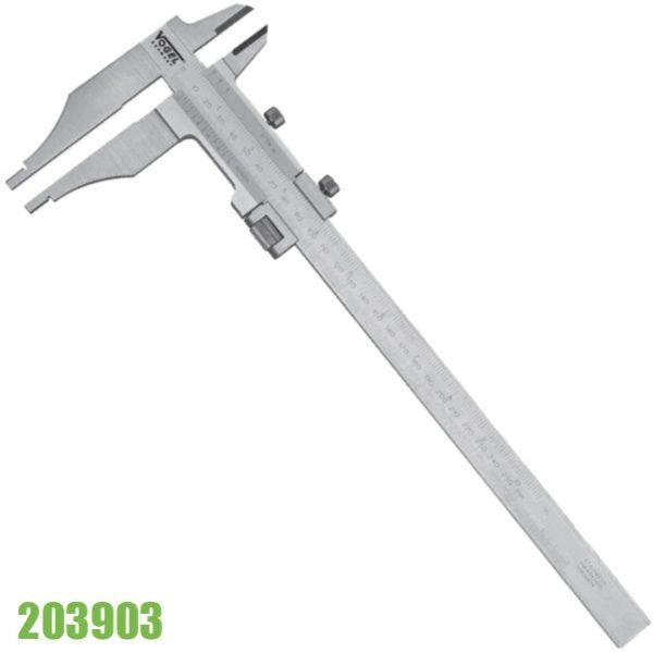 203903 Thước cặp cơ 300mm, có vít tinh chỉnh, ngàm 100x32mm