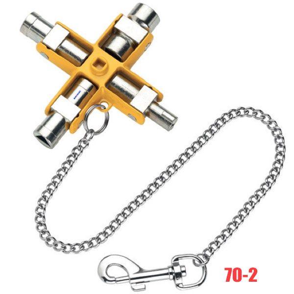 70-2 tay vặn vạn năng 9 trong 1, có dây xích đeo hông tiện dụng.