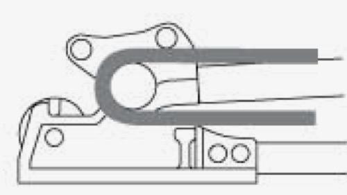 Bo đầu sắt cây 180 độ của kềm cộng lực cắt uốn SCB