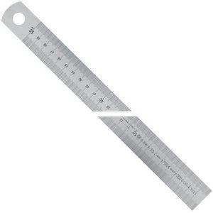 100811 Series Thước lá inox bản rộng type A, vạch chia mm/mm Trái qua Phải