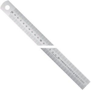 100911 Series Thước lá inox bản rộng type A, vạch chia mm/mm Phải qua Trái