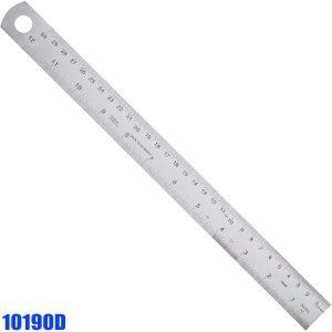 10190D Thuớc inox type D, bản rộng Semi Rigid, vạch chia mm trên dưới.