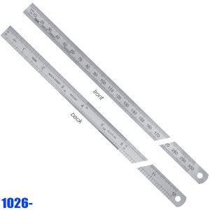 1026- Series Thuớc inox có bảng đổi đơn vị, vạch chia mm / inch trước sau
