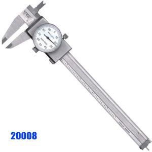 20008 Thước kẹp đồng hồ 6-12 inch, inox, chuống nước IP40.