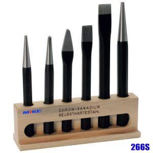 266S bộ đột hỗn hợp bằng thép đựng trong hộp gỗ, Elora Germany