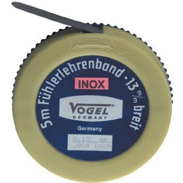 45-INOX thước căn lá dạng cuộn 1-5m, bằng inox. Vogel Germany