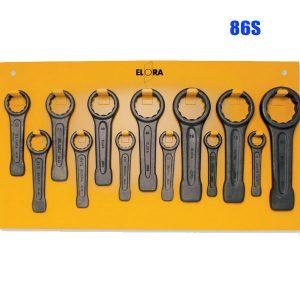86S Bộ cờ lê vòng đóng bao gồm 13 món từ 30-80mm