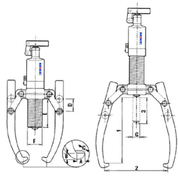 kích thước vật lý của các cơ phận trên cảo HP Series