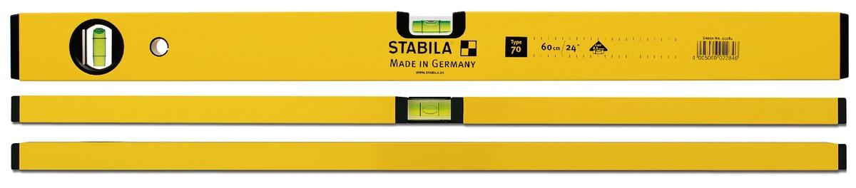 70- Nivo cân bằng 2 bọt thủy, độ chính xác 0.029 độ. Stabila Germany