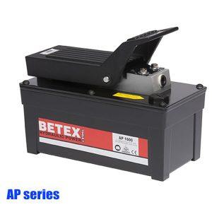 AP series Bơm thủy lực bằng khí nén, dùng chân, 2 cấp tốc độ, áp suất 700 bar.