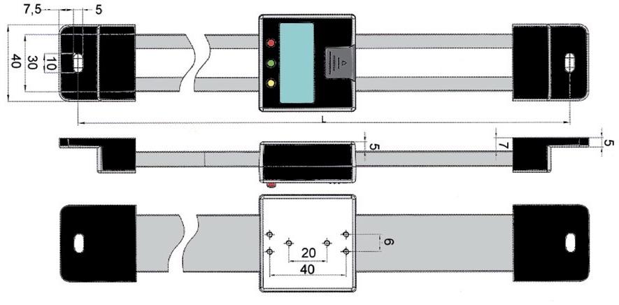 Kích thước lắp ghép của thước đo hành trình trục đứng Vogel Germany.