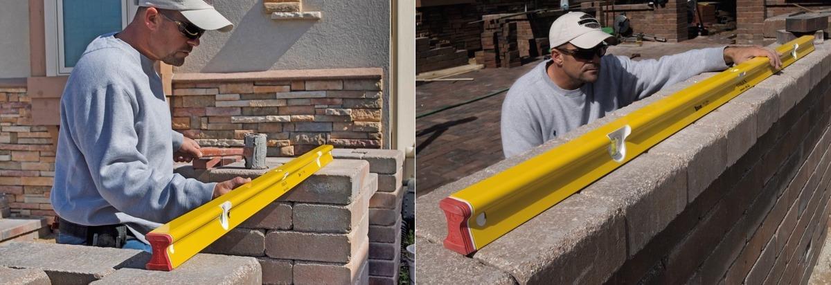 Spirit Level R300 applications bricklayer, ứng dụng của thước nivo thợ xây