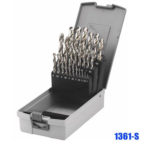 1361-S Bộ mũi khoan thép 19-25 chi tiết, từ 1.0mm – 13mm