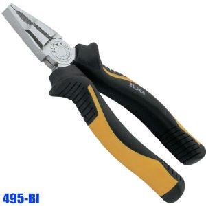495-BI Kìm đa năng, kềm răng đầu bằng, cán bọc nhựa cứng DIN 5746.