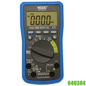 640384 Đồng hồ vạn năng chỉ thị số sử dụng năng lượng mặt trời