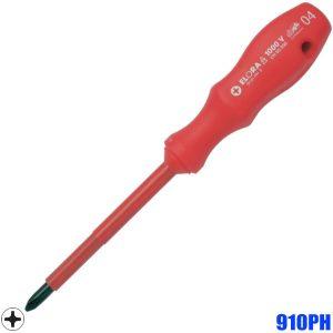 910PH Tô vít 4 cạnh cách điện, dài 140-325mm. Chuẩn DIN ISO 8764-1 PH