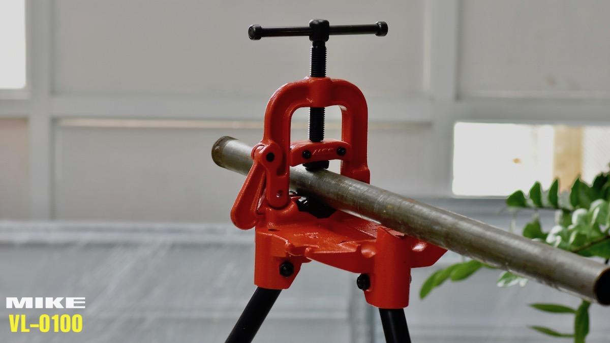 VL-0100 ê tô kẹp ống 3 chân chuyên dụng kẹp ống tới phi 63mm