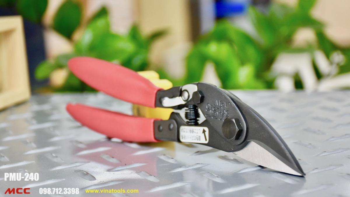 Kéo cắt kim loại PMU-240 có độ dài tổng hệ mét là 240mm