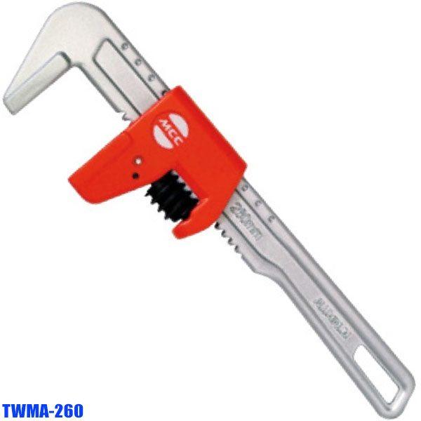 TWMA-260 Mỏ lết nhôm không răng, độ mở ngàm 70mm. Sx tại Nhật