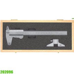 202096 bộ thước kẹp 150mm kèm dưỡng đo độ sâu 75mm Vogel