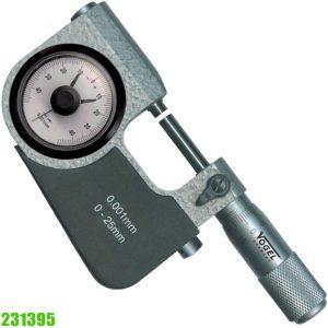 231395 Panme đồng hồ 0-25mm, độ chính xác ±0.04mm, sx tại Đức