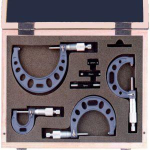 232001 Bộ panme cơ đo ngoài 4 món, thang đo 0-100mm, độ chính xác 0.01mm