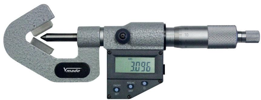 23218 Series Panme điện tử đo ngoài 1-105mm, ngàm chữ V, sản xuất tại Đức