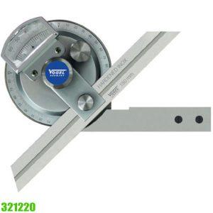321220 Series Thước đo góc vạn năng, độ chính xác 4 x 90°, sx tại Đức