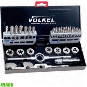 49505 Bộ taro bàn ren 32 món từ M3 đến M12. Volkel Germany.
