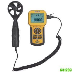 641203 Máy đo tốc độ gió 0.3 – 45 m/s, lưu lượng gió 0 – 990000 m3/phút