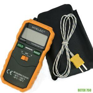 BETEX 750 máy đo nhiệt độ tiếp xúc type K, thang đo tới 750 độ C