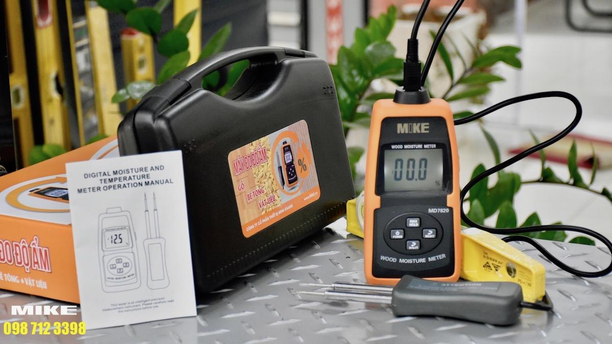 Cảm biến tháo rời của máy đo độ ẩm gỗ.
