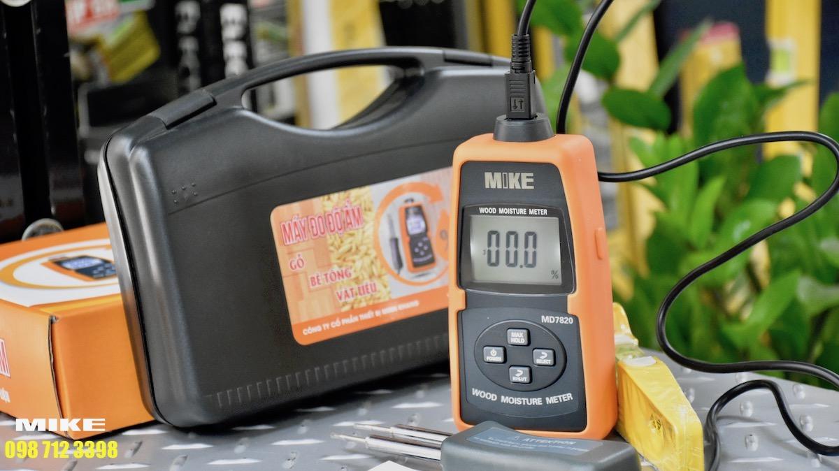 MIKE MD7820 máy đo độ ẩm nguyên liệu đầu vào.