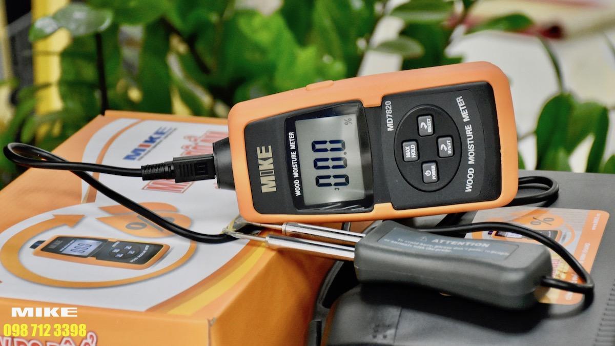 Tính năng đo nhiệt độ của gỗ hoặc vật liệu xây dựng tích hợp vào máy.