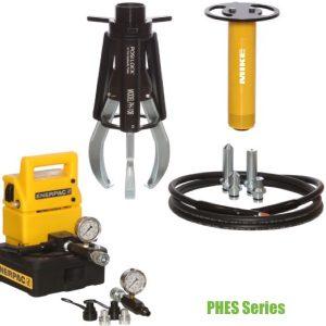 PHES Series bộ vam thủy lực dùng bơm điện, hoàn chỉnh của Posilock