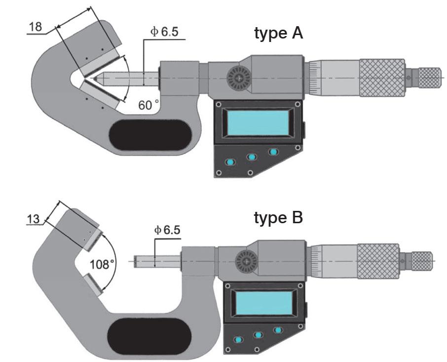 Bản vẽ kỹ thuật 23218 Series Panme điện tử đo ngoài 1-105mm, ngàm chữ V