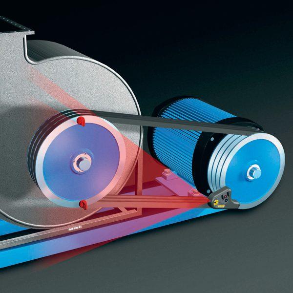 D90 cân chỉnh phẳng puli bằng laser, đường kính rãnh tới 60mm