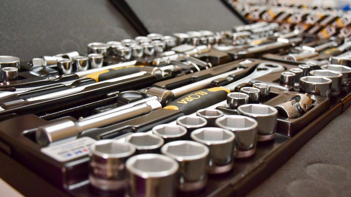OKLMK Bộ tuýp 25 món hệ mét và hệ inch, từ 10 – 32mm, 1/2 inch