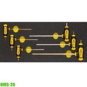 OMS-26 Bộ lục giác chữ T, 2-6mm phù hợp với tủ đồ nghề.