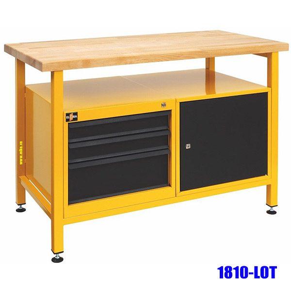 1810-LOT Bàn nguội 1200mm, kết hợp tủ đồ nghề 3 ngăn kéo, 1 khoang. Elora Germany