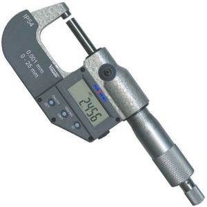 231070 Panme điện tử đo ngoài 0-25 mm, độ chính xác ± 0.001mm, IP54