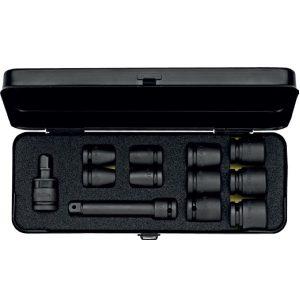 790S12 bộ tuýp đen 12 chi tiết hệ mét và inch, đầu vuông 1/2 inch. ELORA Germany