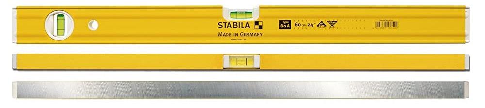 80A Series Thước thủy nivo 30-150cm, 2 bọt thủy, Stabila Germany