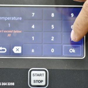 chọn thông số nhiệt độ (Temperature)