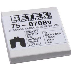 B075 Miếng chêm inox shim B, khổ 75x75mm, size bulong M20