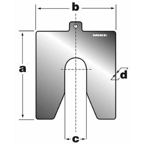 Bản vẽ kích thước shim inox của BETEX